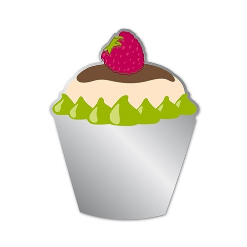 Miroir Adhésif Artis Deco - Cupcake fraise