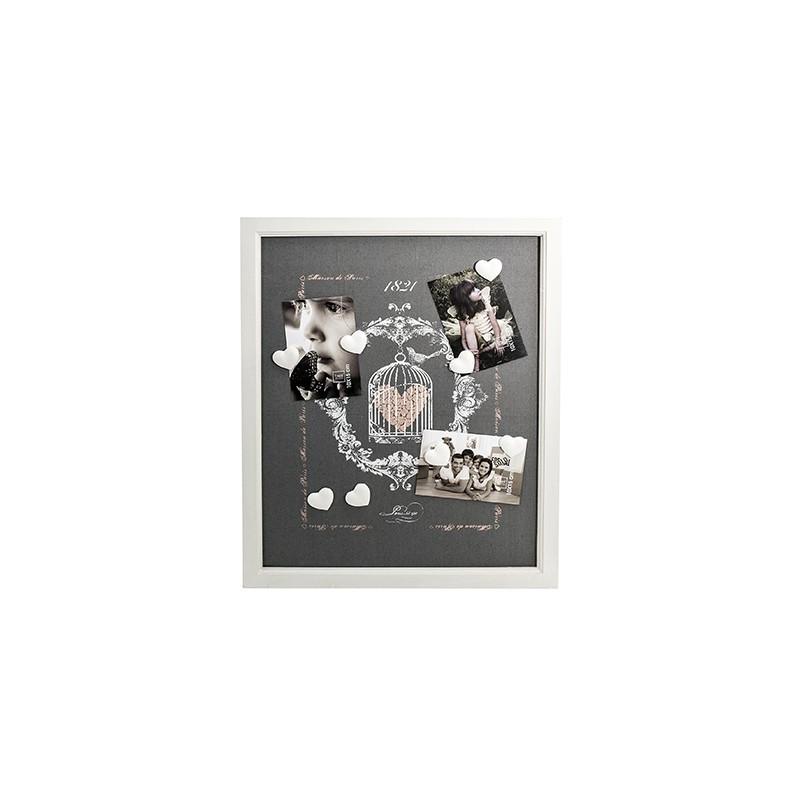 Cadre pêle-mêle magnétique 40x50 - Cage à Oiseaux