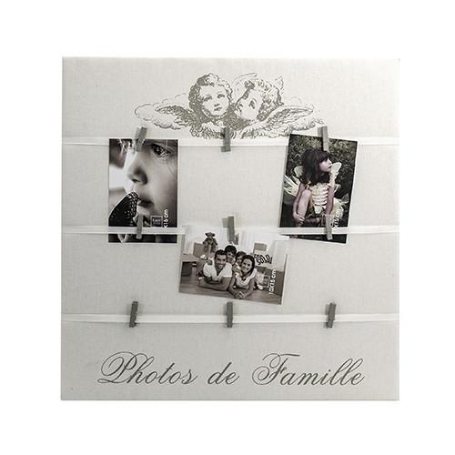 Toile pêle-mêle photo à pinces Anges - 50x50