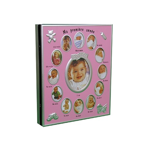 ALBUM PHOTO AUTOCOLLANT ENFANT ROSE