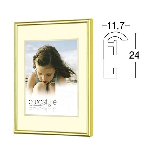 Cadre photo en résine dorée - Verre synthétique 40x60