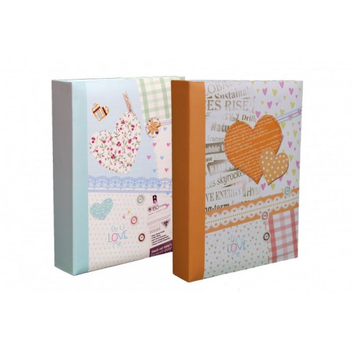 LOT-2-ALBUMS-PHOTO-HAPPY-NEWS-200-POCHETTES-10X15-BLEU-CLAIR-ORANGE