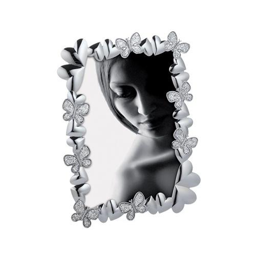 Cadre photo 13x18 Mascagni métal Coeurs et Papillons