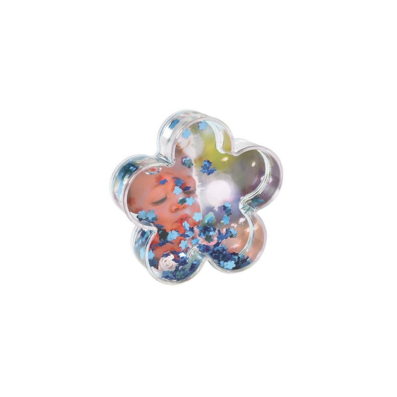 Boule photo en forme de fleur - Fleurs bleues