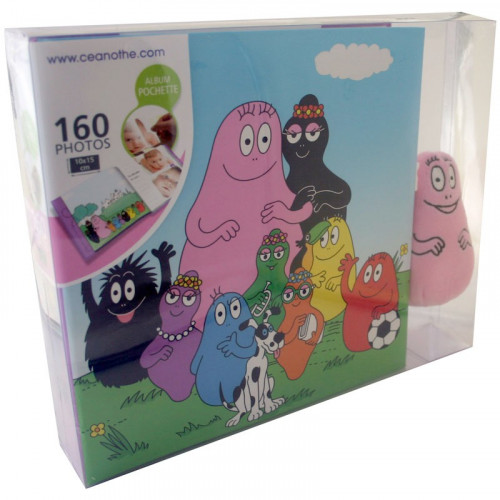COFFRET ALBUM PHOTO BARBAPAPA + PELUCHE