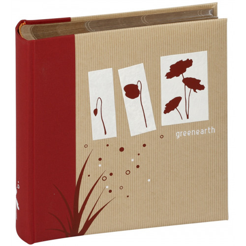ALBUM-PHOTO-GREENEARTH-200-POCHETTES-11,5x15-ROUGE