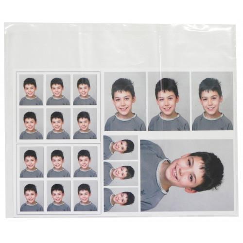 Pochettes transparentes en plastique format 26,5x32 cm