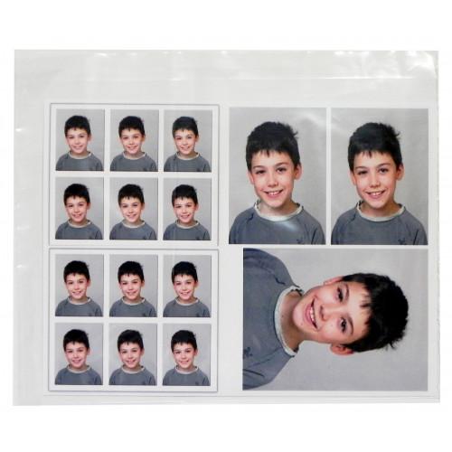 100 Pochettes transparentes en plastique format 21x25,5 cm