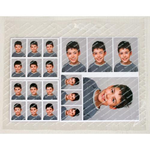 """100 Pochettes """"Reproduction interdite"""" en plastique format 25,5x33,5 cm"""