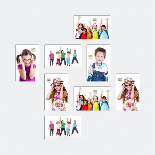 Cadre multivues Carré pour 8 photos 10x15 - Blanc