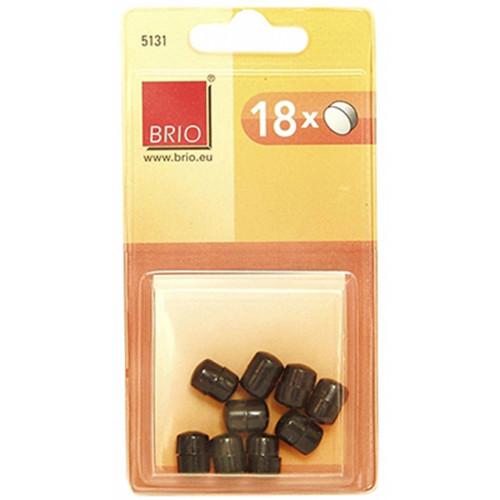 18 plots magnétiques ronds 10mm - Noir