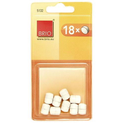 18 plots magnétiques ronds 10mm - Blanc