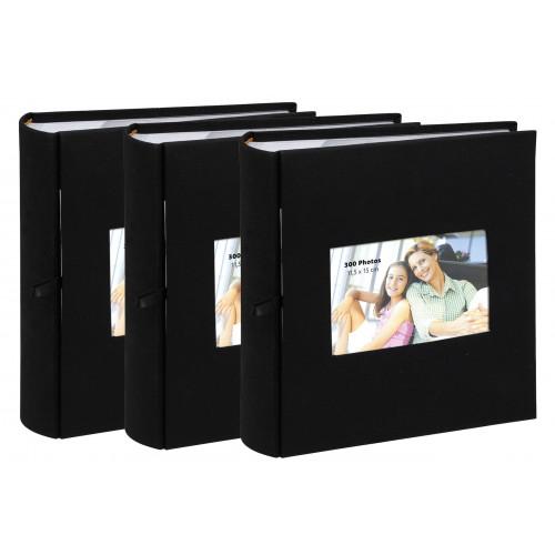 Lot de 3 albums à pochettes Erica Square pour 300 photos 11.5x15