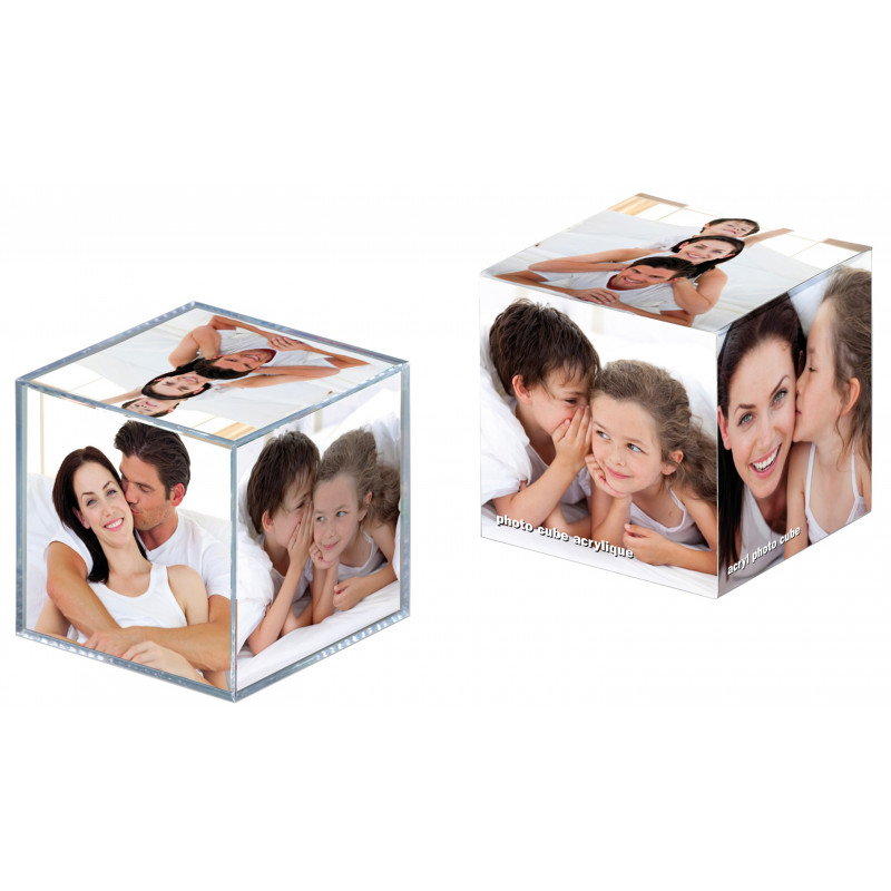 Cube photo transparent Walther 8,5x8,5x8,5 cm
