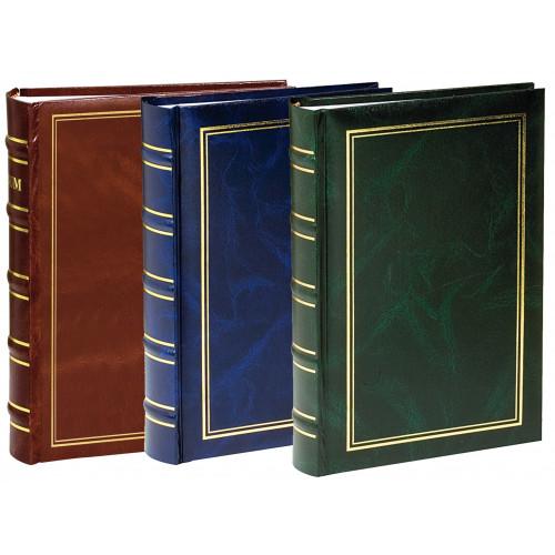 Lot de 3 Albums photo à pochettes Marbré pour 200 photos 11x15 - Marron, vert et bleu