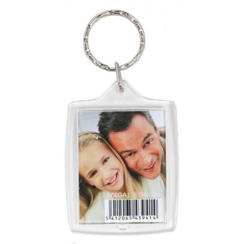 Porte clé photo en résine - rectangle - Deknudt