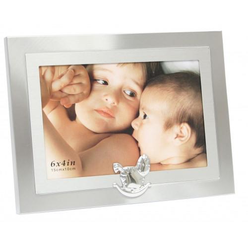 Cadre photo enfant métal Cheval à bascule 10x15