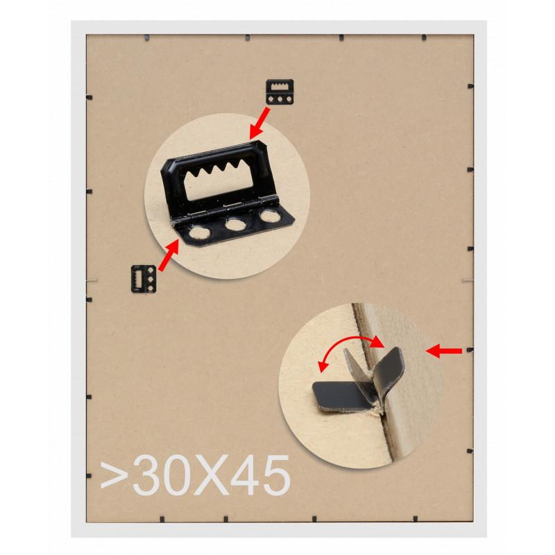 CADRE-PHOTO-DUO-VERTICAL-DEKNUDT-S41VK3 H2V-BRUN-FILET-ARGENT