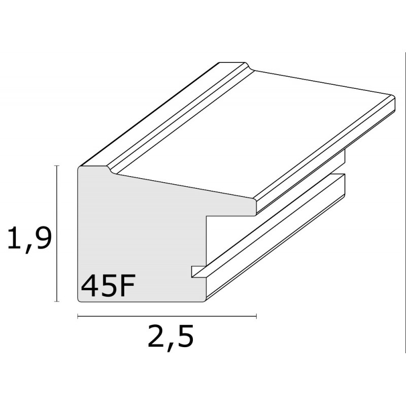 CADRE-PHOTO-DEKNUDT-S45FE3-BRUN-FILET-EXTERIEUR-ARGENTE