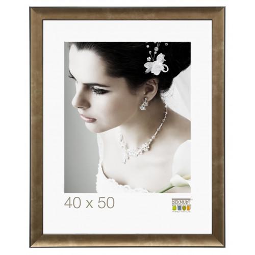 Cadre photo Deknudt S45ND4 - Bronze avec contour noir 30x40 30x45