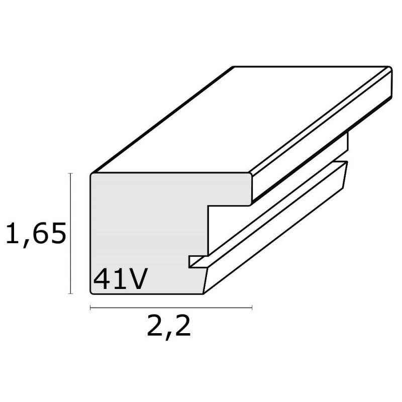 CADRE-PHOTO-TRIPTIQUE-HORIZONTAL-DEKNUDT-S41VK3 H3V-BRUN-FILET-ARGENT