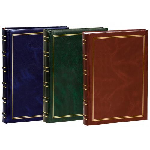 Lot de 3 Albums à pochettes Marbré pour 300 photos 11.5x15 - Bleu, Vert et Marron