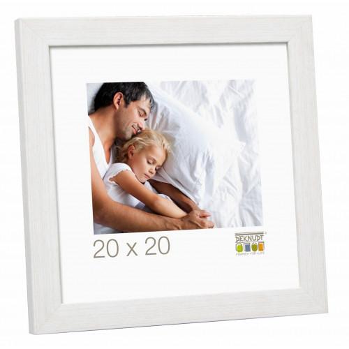 Cadre photo carré Deknudt S41VF1 blanc 15x15