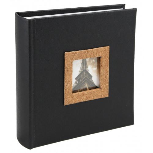 Album photo à pochettes Cork pour 200 photos 13x18 Noir