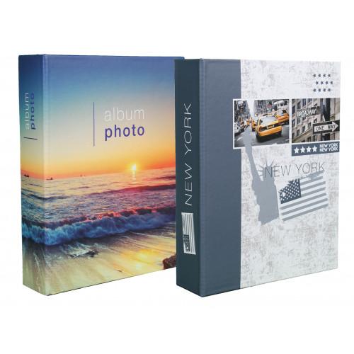 LOT 2 ALBUMS PHOTO NEW YORK 200 POCHETTES 10X15