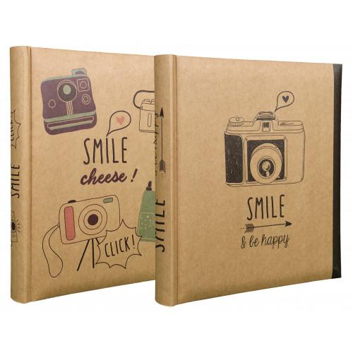 Lot de 2 albums photo Smile 200 pochettes 10x15