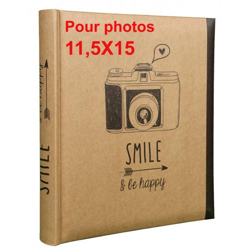 LOT 2 ALBUMS PHOTO SMILE 200 POCHETTES 11,5X15