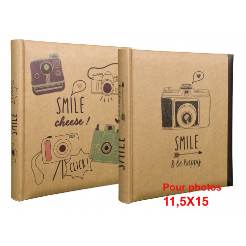 LOT 2 ALBUMS PHOTO SMILE 200 POCHETTES 11,5X15