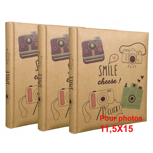 Lot de 3 albums photo Smile 200 pochettes 11,5X15