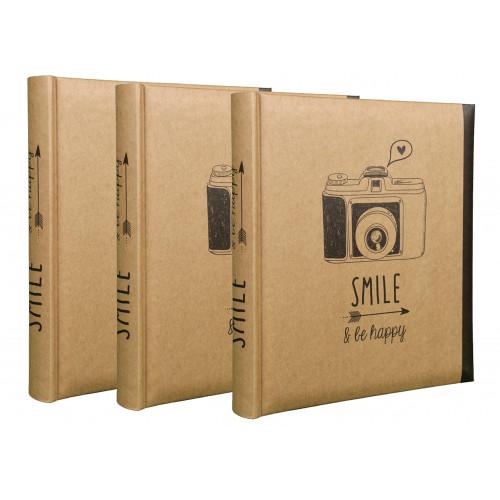 Lot de 3 albums photo Smile 200 pochettes 11,5X15
