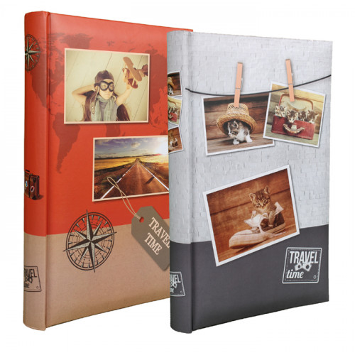 LOT 2 ALBUMS PHOTO TRAVEL TIME 300 POCHETTES 10x15