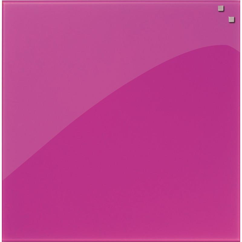 PELE-MELE-MAGNETIQUE-NAGA-45X45-EN-VERRE-ROSE