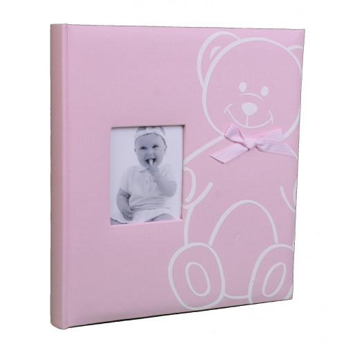 ALBUM-PHOTO-NAISSANCE-NEW-BABY-BEAR-FACE-ROSE