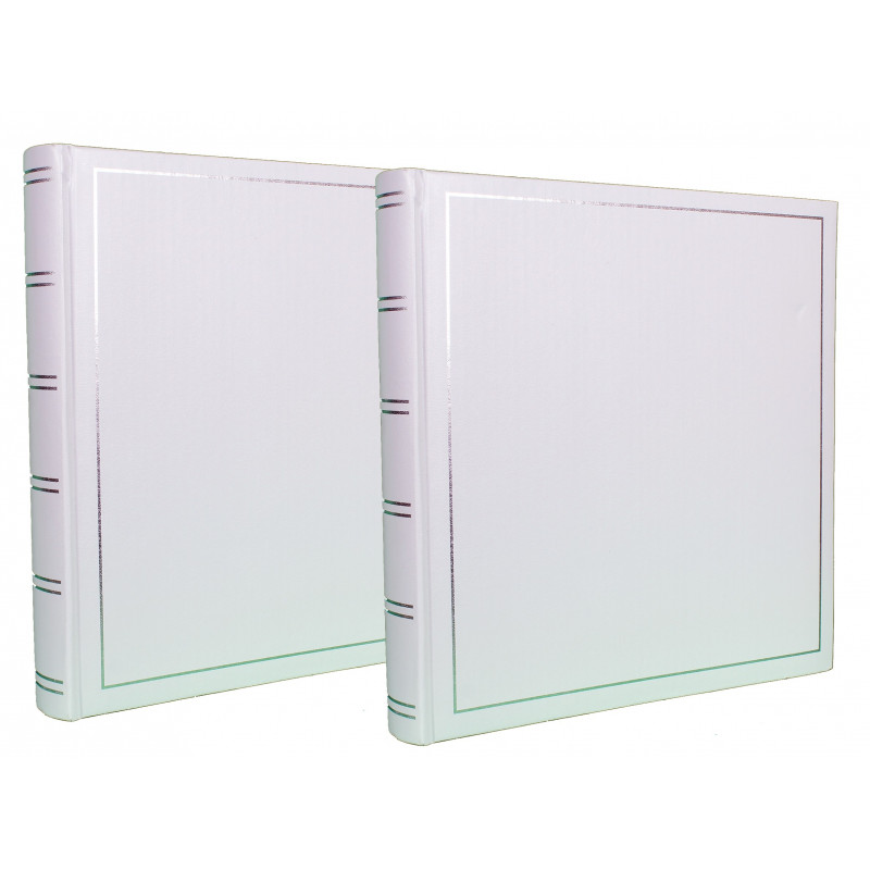 LOT-2-ALBUMS-PHOTO-TRADITIONNEL-JUMBO-SUPER-XL-BLANC