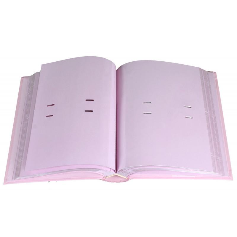 """Album photo à pochettes """"Baby 8"""" pour 200 photos 10x15 - Rose"""
