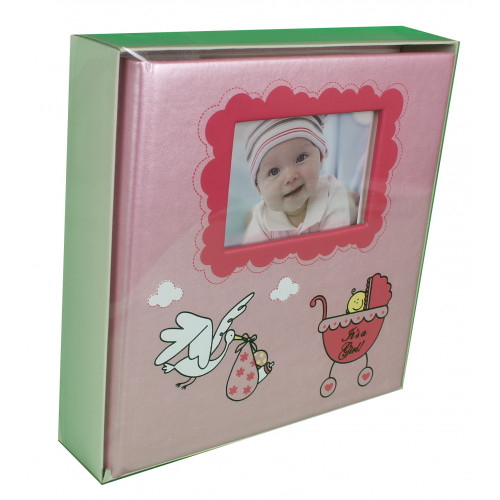 COFFRET PHOTO ALBUM A POCHETTES IT'S A GIRL -IT'S A BOY 200 PHOTOS 10X15
