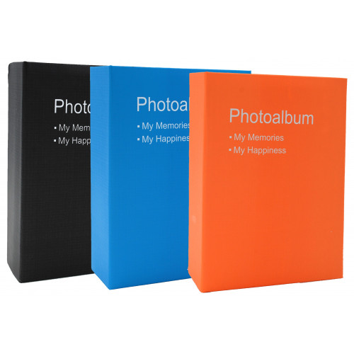 LOT DE 3 ALBUMS PHOTO POP 100 POCHETTES 10X15 NOIR BLEU ORANGE