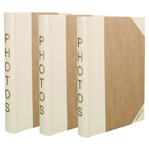 LOT 3 ALBUMS PHOTO PHOTO 300 POCHETTES 10X15