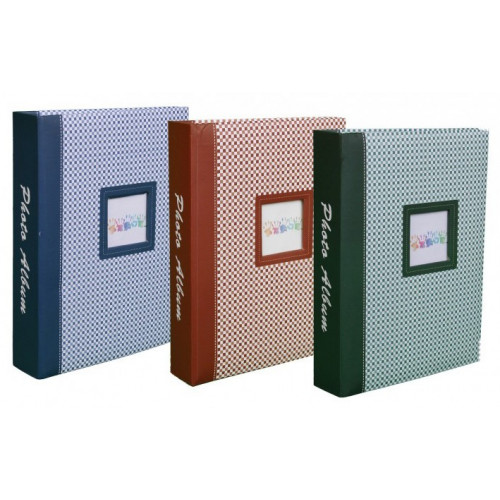 LOT DE 3 ALBUMS PHOTOS ELEMENTS 200 POCHETTES 10X15 BLEU BRUN VERT