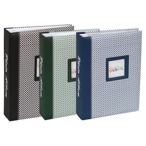 Lot de 3 albums photo Elements 200 pochettes 10x15 noir vert bleu