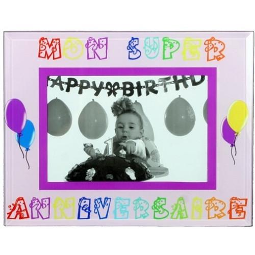 Cadre photo enfant Mon super anniversaire garçon 10x15