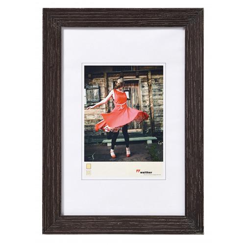 Cadre photo ALLEGRA en bois - Noir 15X20