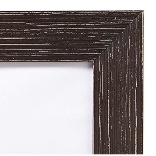 Cadre photo ALLEGRA en bois - Noir