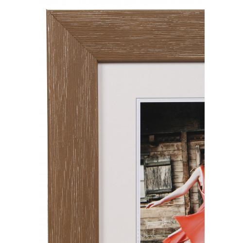 Cadre photo ALLEGRA en bois - Brun