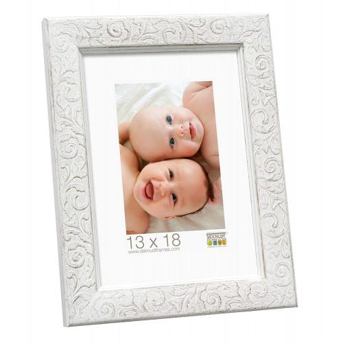 Cadre photo 20x30 Deknudt S95FS1 Ornementé blanc