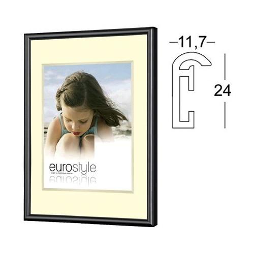 Cadre photo en résine noir - Verre synthétique 30x40 30x45 50x70